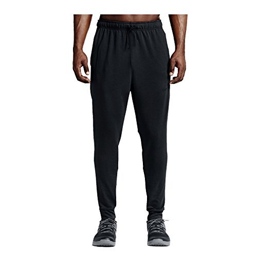 NIKE Men's Dry Regular Fleece Pants, Black/White, XX-Large