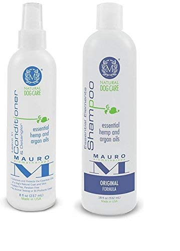 Mauro Natural Dog 8 oz Leave-in-Conditioner & 18 oz Shampoo (Original Formula)