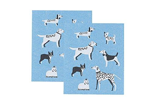Now Designs Swedish Dishcloth, Set of Two, Dog Days