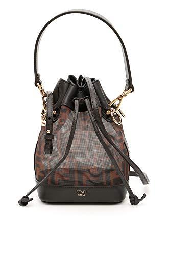 Fendi Women's 8Bs010a8hnf12pk Brown Leather Shoulder Bag (Fendi Brown Bag)