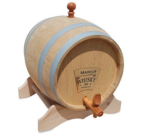 Eichenfass 10 Liter mit Personalisierung für Whisky, Brände, Wein, Bier by Funice Design