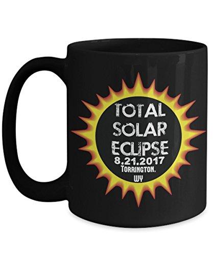 Total Solar Eclipse 2017 Torrington, Wyoming Commemorative Astronomy Mug by Plaid Panda Creations