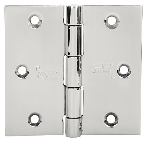 3 1/2' Heavy Duty Hinge (3 pieces 100% STAINLESS STEEL DOOR HINGES Security Lock PIN Hinges 3.5'' X 3.5'' BRIGHT MIRROR POLISHED Finish 353525SQ-SP-32D Heavy Duty DESIGN SUITABLE FOR ALL TYPES OF DOOR SS iSKCON)