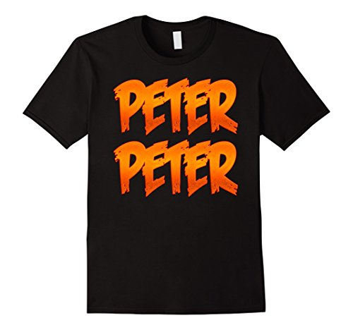 Simple Good Halloween Costumes (Mens Peter Peter Pumpkin Eater Couples Halloween Costume T Shirt Large Black)