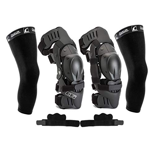 Ossur CTi Knee Brace Protection Set - Motocross Edition - Includes Right and Left Sides, Patella Protector Cups, Gear Guards, Anti-Migration Wraps, Under-Sleeves and CTi Stickers (Small) ()
