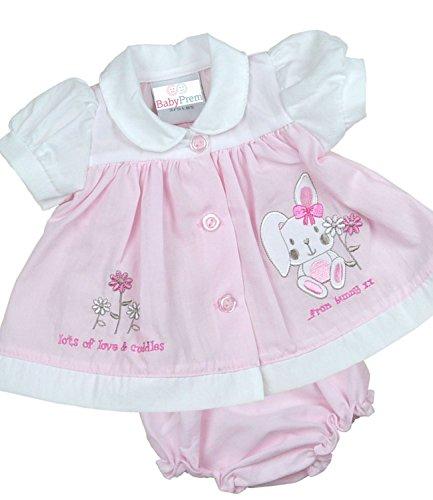 (BabyPrem Premature Baby Dress Knickers Set Bunny Preemie Clothes 3-5lb Pink)