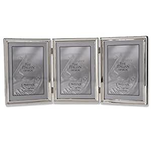 lawrence frames polished silver plate 5x7 hinged triple picture frame bead border. Black Bedroom Furniture Sets. Home Design Ideas