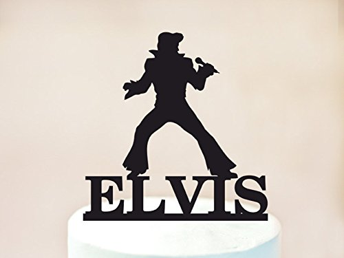 Elvis Theme Party Cake Topper,Elvis Birthday Cake Topper,Rock N Roll Party,Birthday Cake Topper,Birthday Cake Decoration,Personalized Cake Topper