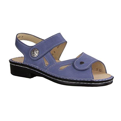 cuero azul GMBH de vestir para mujer de azul nobuck FINNCOMFORT Sandalias XSxwSF