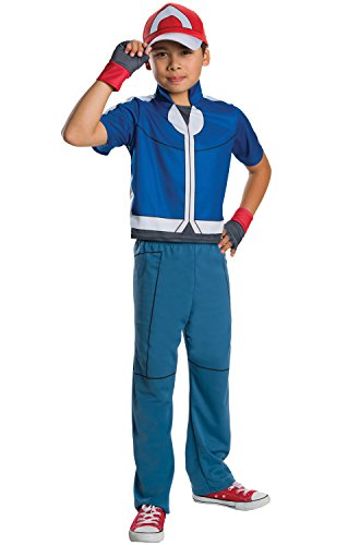 [Rubie's Costume Pokemon Ash Deluxe Child Costume, Small] (All Costumes For Girls)