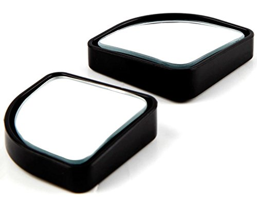 "Ketofa (Pack of 2) 2"" Adjustable Automotive Blind Spot Mirrors Sector Convex Stick- On Rear View and Rear Glass Mirrors (Black)"