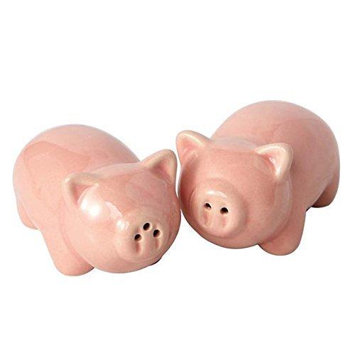 Design Imports Pigs Ceramic Salt & Pepper Shakers.