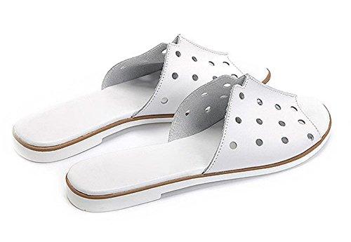 Wohnung mit flachen Sandalen Slipper Sommer weiblichen Pantoffeln White