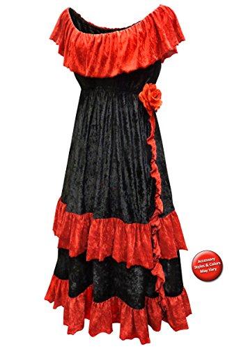 Dia de los Muertos Plus Size Halloween Costume Dress Only 0x/XL - Adult Only Halloween Costumes