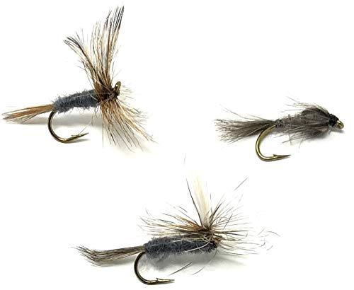 Trout Flies 12 x  IRON BLUE DUN Parachute size 12