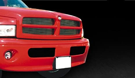 MaxMate Fits 99-01 Dodge Ram Sport Replacement Upper 4PC Horizontal Billet Polished Aluminum Grille Grill Insert