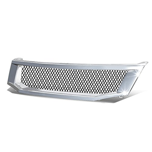 For Accord Sedan ABS Plastic Diamond Mesh Front Bumper Grille w/Steel mesh Screen (Chrome)