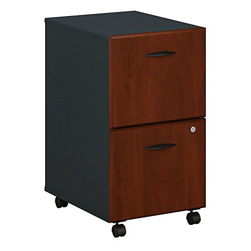 Bush Business Furniture WC94452PSU Series A 2 Drawer Mobile File Cabinet, Hansen Cherry/Galaxy