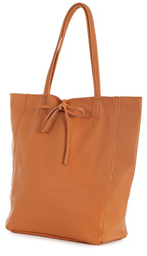 Handbag Shoulder Hobo Soft Leather Large Orange Leightweight LiaTalia Italian Astrid Shopper Genuine Tote aBxvcz