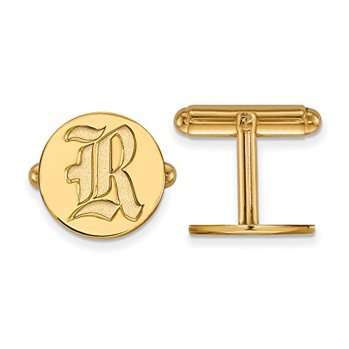 Rice Cuff Links (14k Yellow Gold) by LogoArt