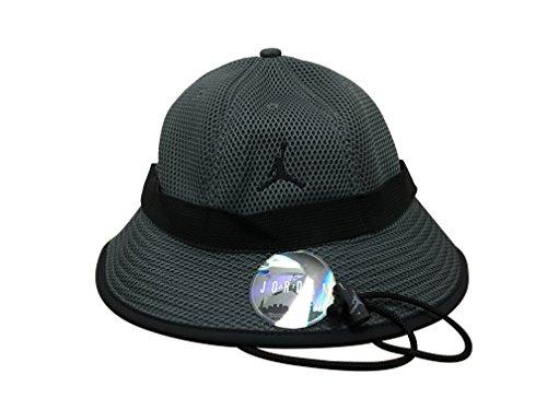 Jordan Jumpman Jersey Net Bucket Hat (S/M, Grey/Black)