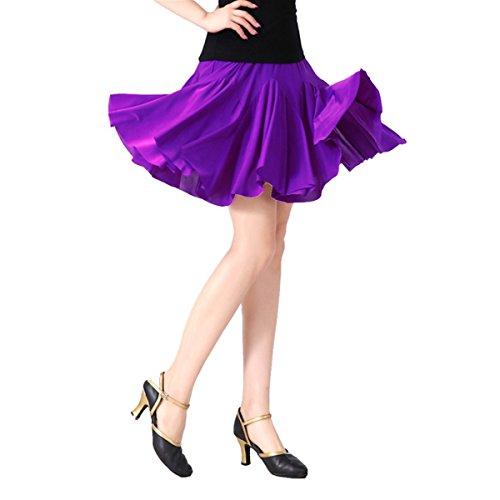 Female Chaos - Women Latin Dance Skirt Salsa Tango Rumba Cha Cha Dancing Costume Dress w/Shorts