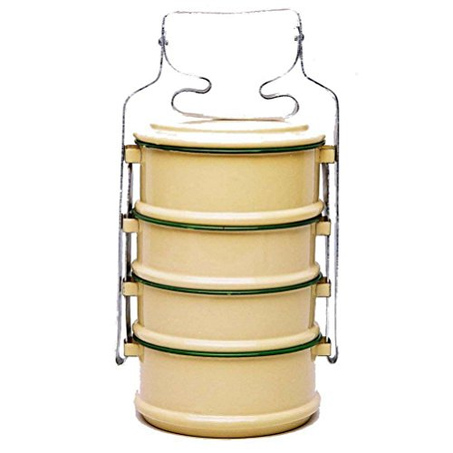 4 Tier Tiffin Food Carrier Box /Thai Rice Bowl Buddhist Style 14 cm by Thailand