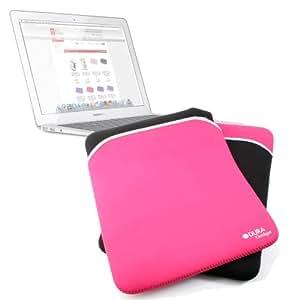 DURAGADGET Funda Negra Y Rosa Reversible Resistente Al Agua Para El Apple Macbook Air de 13 Pulgadas & Macbook Pro De 13 Pulgadas