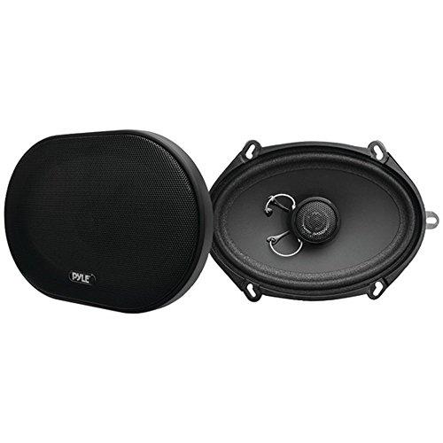 PYLE PLSL5702 Plus Series Slim-Mount Coaxial Speakers (5 x 7/6 x 8, 2 Way, 180 Watts) - ONE YEAR Warranty