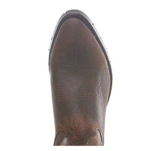 Botas De Doble H: 3283 Hombres Botas De Vaquero De Cuero De Pull-on Oiltan Hechas En Ee. Uu. Marrón