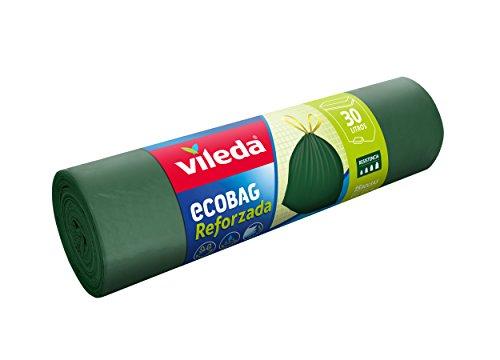Vileda Reinforced Ecobag30Litre Bin Bags, Pack of 15.