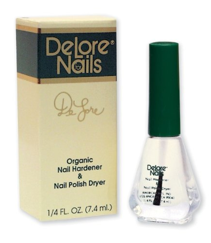 Delore for Nails Organic Nail Hardener and Nail Polish Dryer, .25-Ounce (Pack of 2)