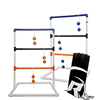 Rally and Roar Ladder Toss – Ladder Ball Toss Game – 3 OPTIONS TO CHOOSE FROM – UPDATED CLASSIC, CLASSIC, or PREMIUM – Game Set with 2 Targets, 6 Rubber Bolas, Zippered Carrying Case