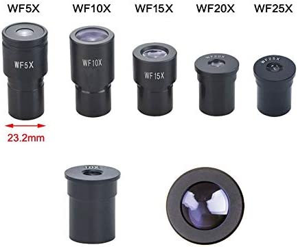 Color:1PC WF5X Dedicated Wide Angle Eyepiece Microscope 5X 10X 15X 20X 25X Biological Microscope Lens 23.2mm Mounting Size Microscope Ocular Mercury/_Group