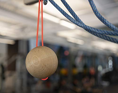 """Bouldering /&Premium Workout Rock Climbing Training Tool for Grip Strength and Conditioning Durable Climbing Gift Eco-Friendly 3/"""" Wood Power Ball 2 Pack"""