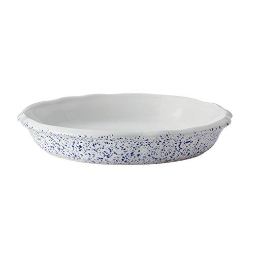 Paula Deen Speckled Stoneware Bakeware Pie Baking Dish, 9-Inch Round, Seaspray White (Plate Heart Pie)