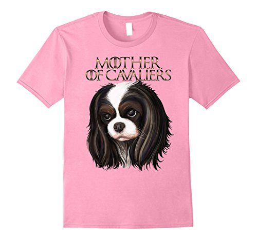 Womens Cavalier king charles spaniel t shirt Large Pink - Cavalier Spaniel Tri Color