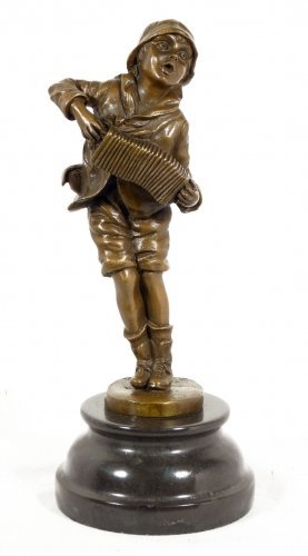 Art Deco Bronze - Lazzarone - on marble base, by Chiparus