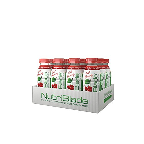 nutriblade Organic Wheatgrass Beverage: Tart Cherry - Five Shots of Wheatgrass per Bottle: Certified Organic by USDA, Great Taste, Convenient, Superfood Nutrition - #1 in Ready to Drink Wheatgrass (Wheat Grass Juice Frozen compare prices)