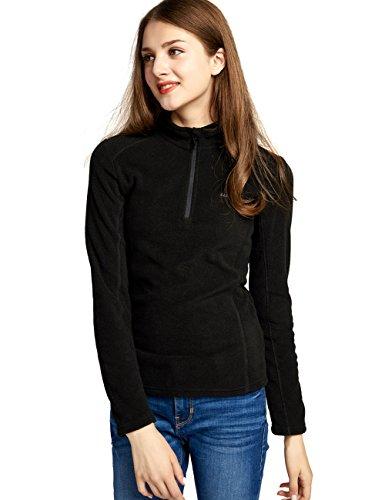 Performance 1/2 Zip Pullover Jacket - Camel Half Zip Fleece Jacket Women Long Sleeve Pullover Lightweight Outdoor Sweatshirt