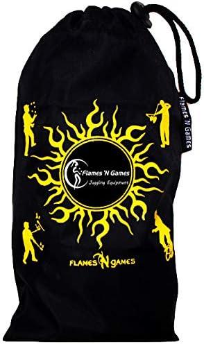 Reisetasche. Pro Feuer Jonglierball Set mit 3 /& Brennstoffflasche 3X Feuer Jonglierb/älle FyreFli 80 mm