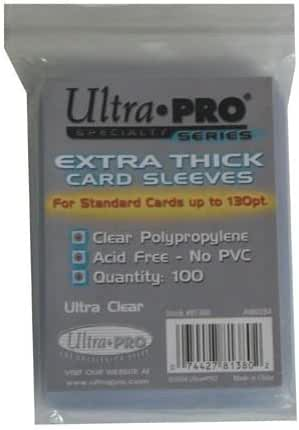 1 (One) Pack of Ultra-PRO Extra Thick Card Sleeves for Thick Jersey or Memorabilia Sports Trading Cards