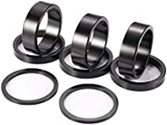 Kbrotech Bicycle Headset Spacer Aluminium Alloy Bike Stem Headset Spacers Fork Washer Fit for 1 1/8-Inch Stem