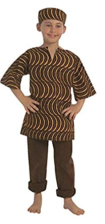 Kids Factory CF100-324B - Disfraz de niño africano americano ...