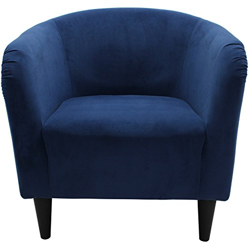 Mainstays Microfiber Tub Accent Chair (Navy Blue) by Mainstay (Image #4)