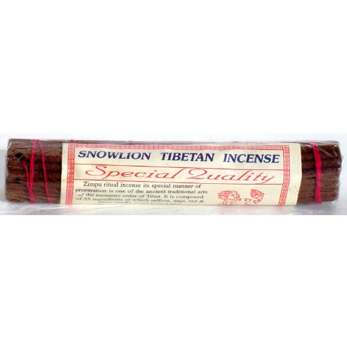 "Snow Lion Incense - 30 Sticks per Pack - 7-1/4"" Length- sold in 4 packs"