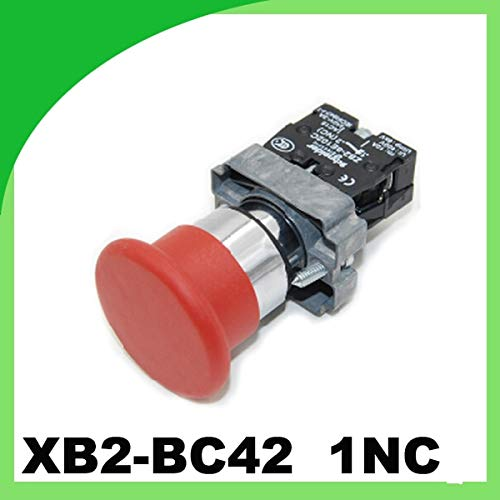 Red Mushroom Micro Switch XB2BC42 Pressure Button Switch 1NC momentary Emergency Stop Push Button