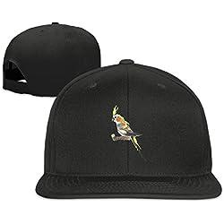 Nquqiyilu Men Cockatiel Screm Cool Baseball Black Hats Adjustable Snapback