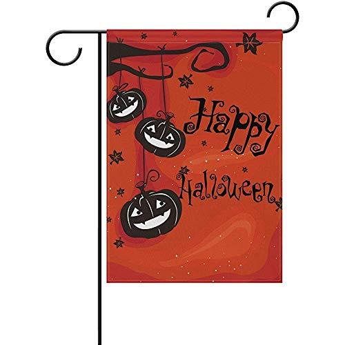 (AIRCRY SHOP Art Happy Halloween Decor Garden Flag 12 x 18)