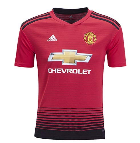 - adidas World Cup Soccer Manchester United Soccer Youth Manchester United FC Home Jersey, Medium, Real Red
